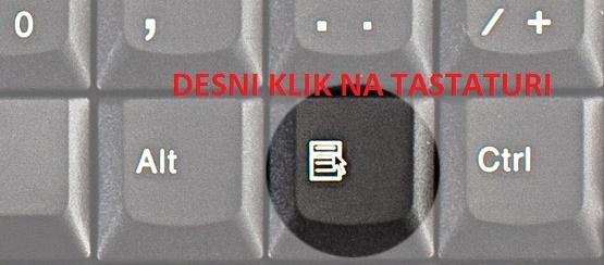 Desni klik na tastaturi