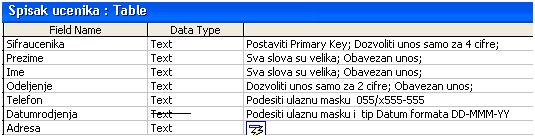 Ocena Access 2