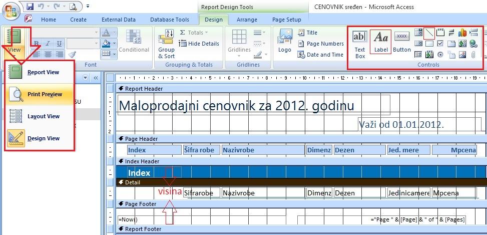 Dizajniranje-izveštaja