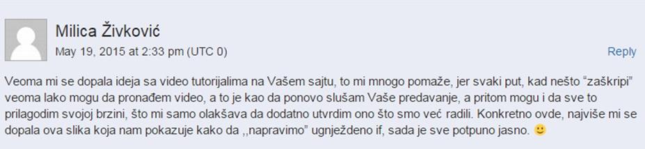 Komentar sa sajta