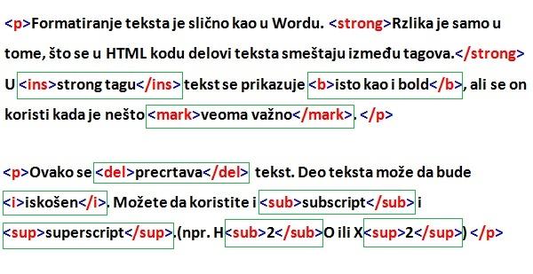 Formatiranje u HTML