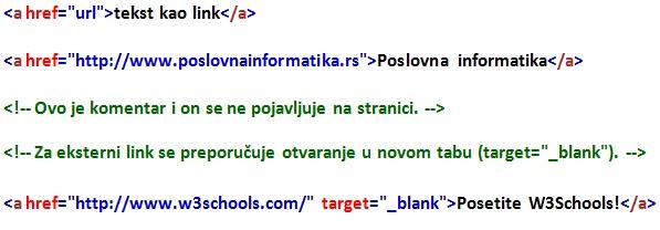 HTML linkovi