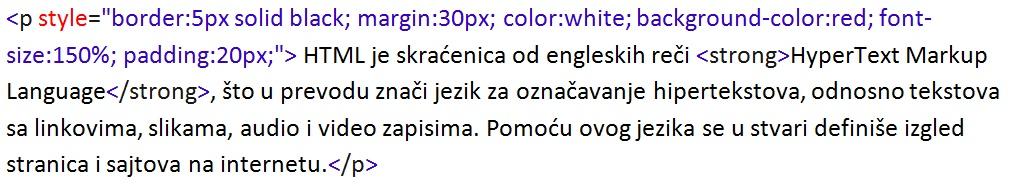 HTML osnove primer 1