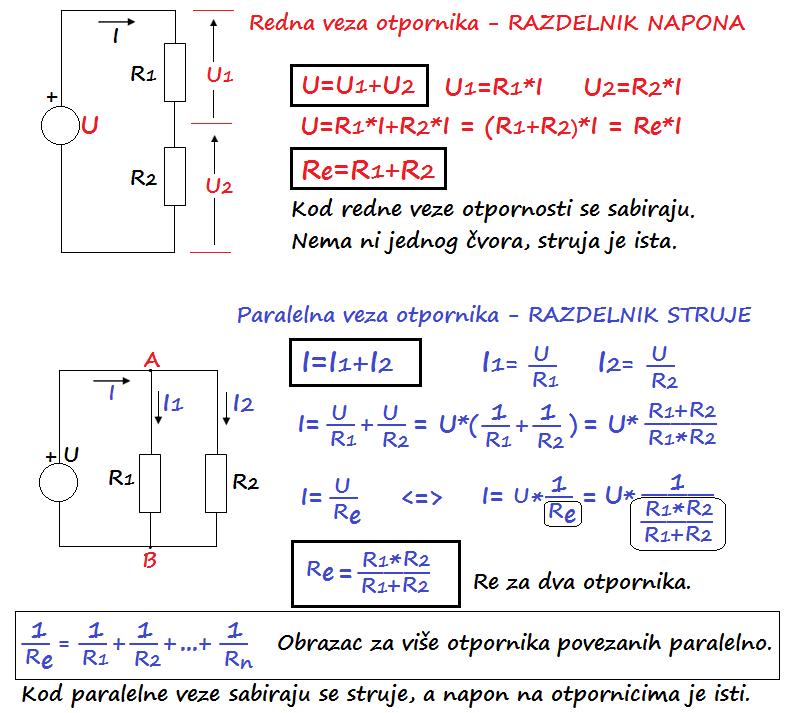 Redna i paralelna veza otpornika